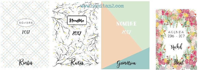 Nueva agenda personalizada 2017 diseño de Habitan2 | Papelería bonita, agenda anual 2017 , elige tu portada| Agendas bonitas personalizadas by Habitan2