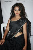 HeyAndhra Bhanu hot Photos in black saree HeyAndhra.com