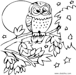 95 Gambar Sketsa Binatang Burung Hantu Gratis