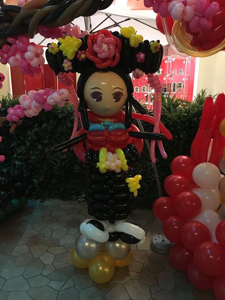 氣球中國風場地佈置-甄嬛&桃花