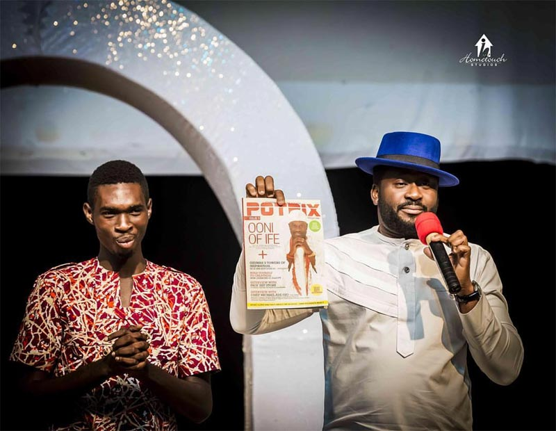 Desmond Elliott and Annie Idibia spotted at University Of Nigeria Nsukka staff awards