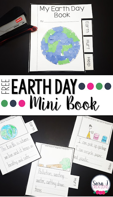 Free earth day printable mini bookfor kids