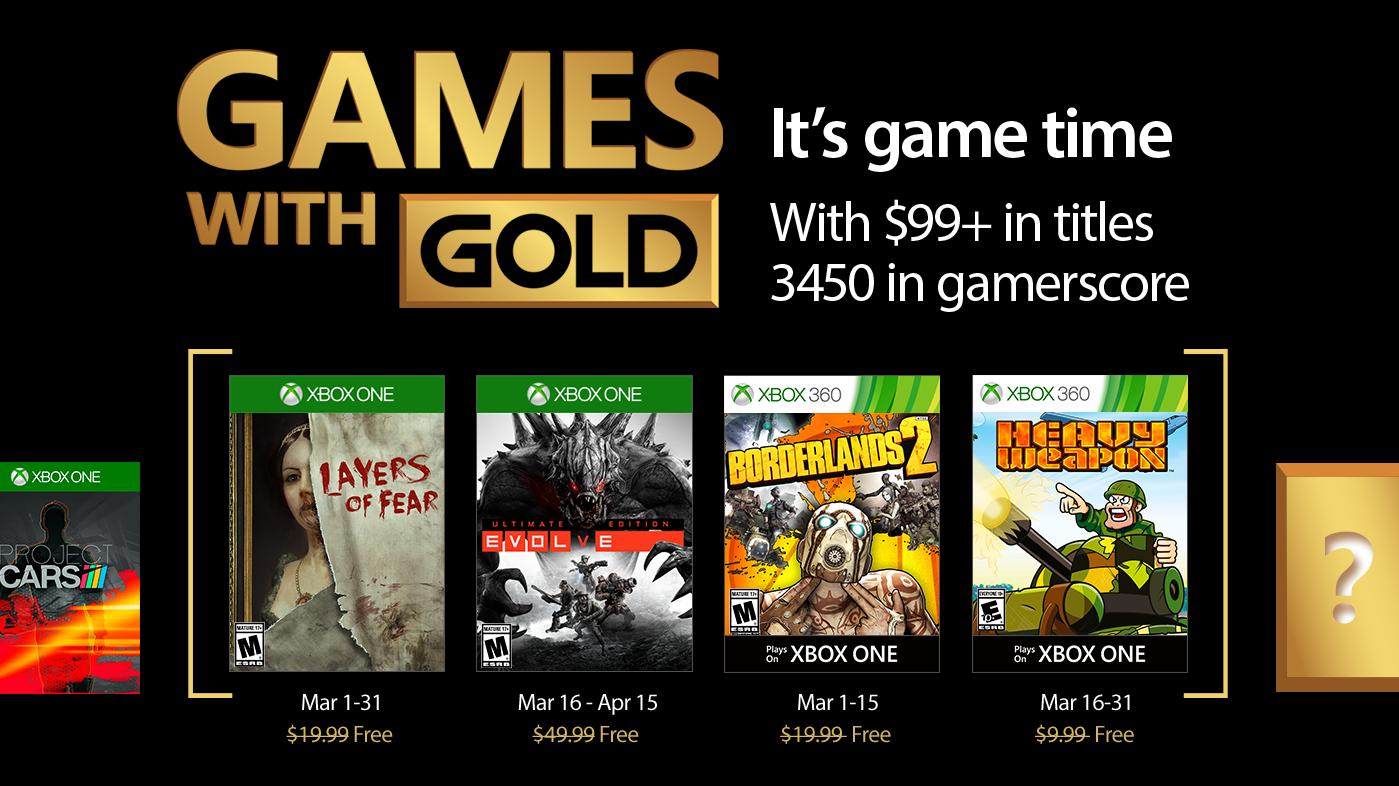 Desvelados los Games With Gold de marzo de 2017