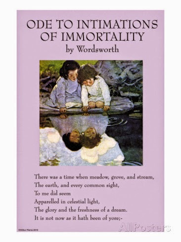 The magic of childhood in the poem ode intimations of immorality by william wordsworth