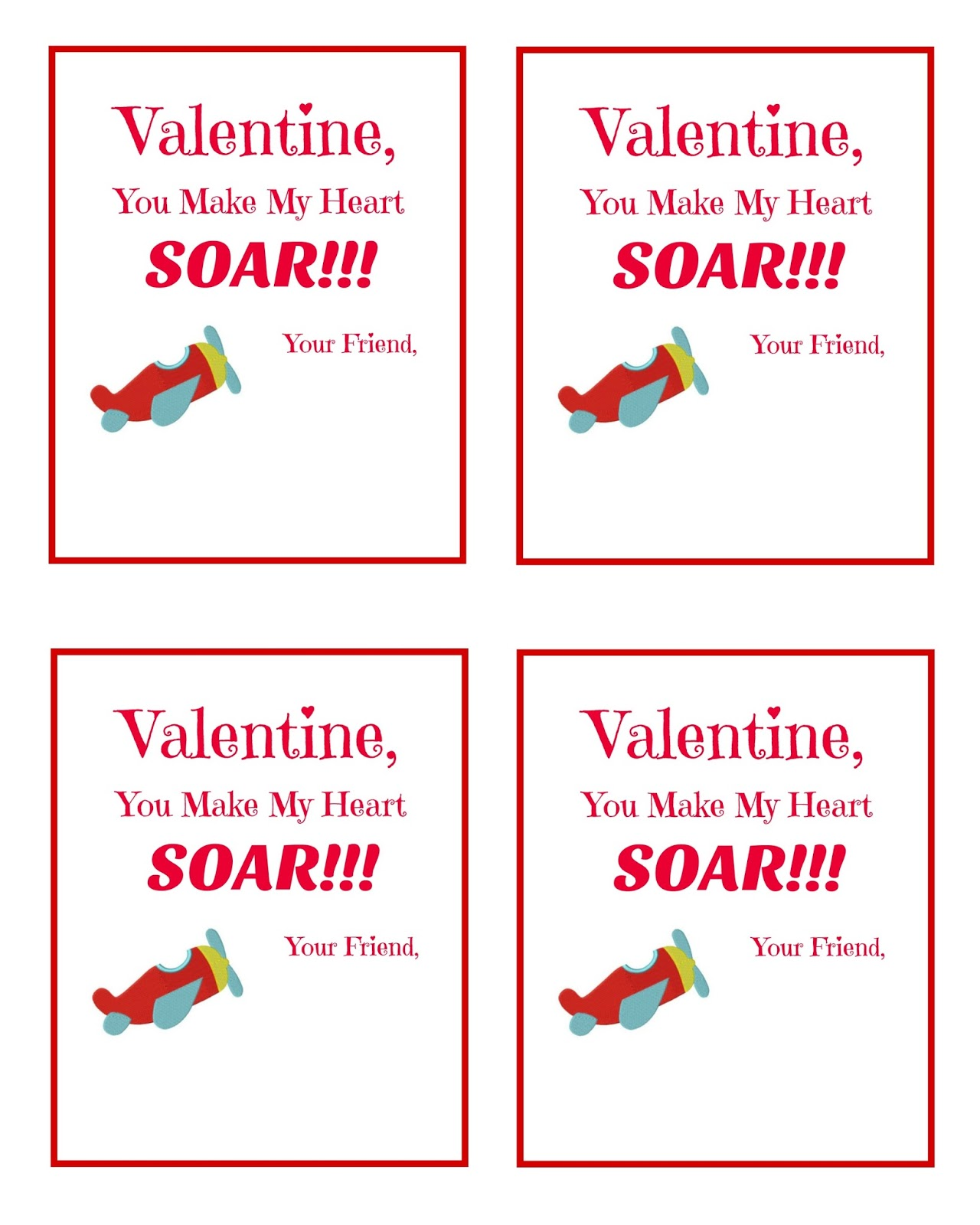 Valentine You Make My Heart SOAR - FREE Printable! - The Momma Diaries
