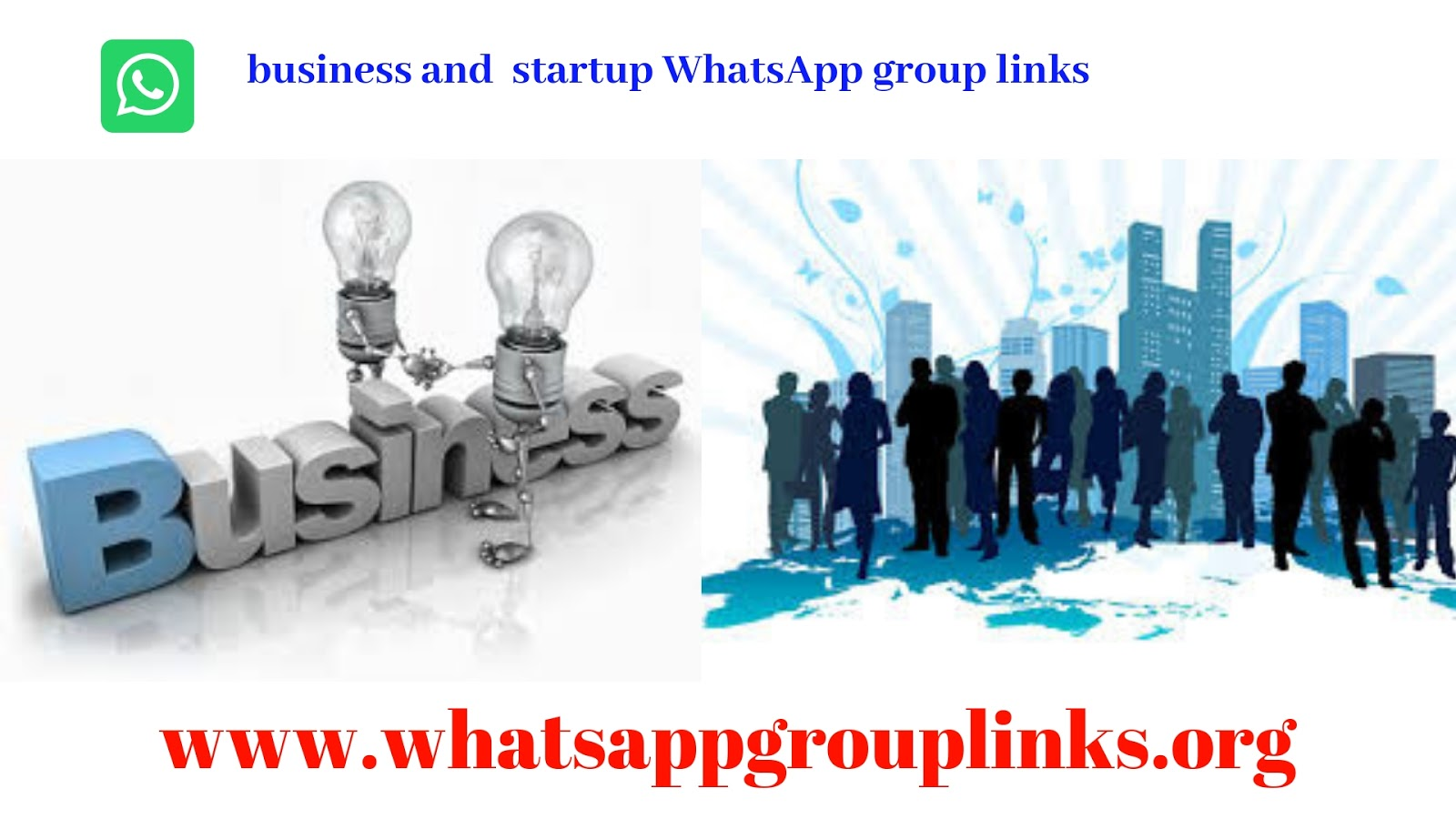 JOIN BUSINESS AND STARTUP WHATSAPP GROUP LINKS LIST