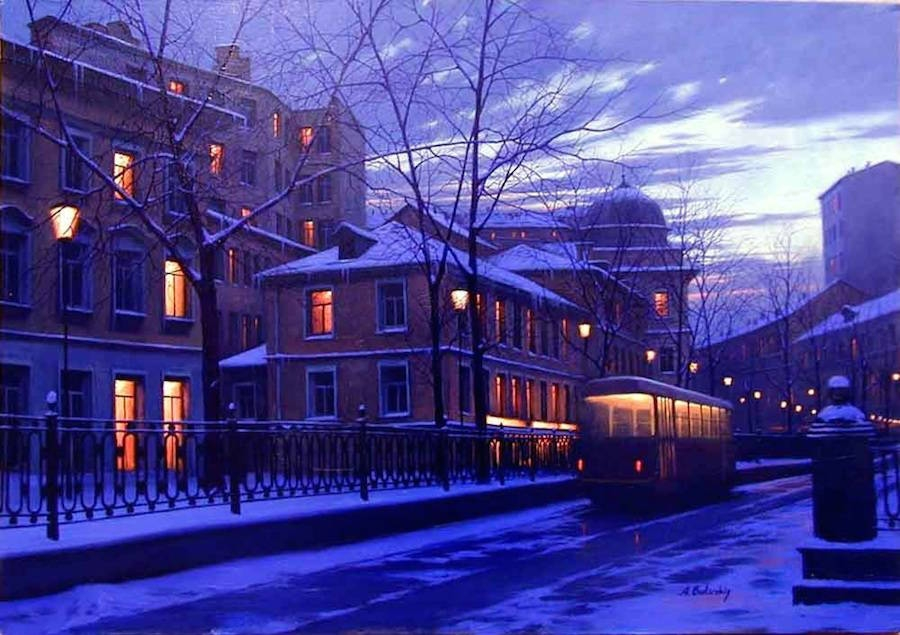 21-Alexey-Butyrsky-Architecture-in-Paintings-of-Cityscapes-at-Night-www-designstack-co
