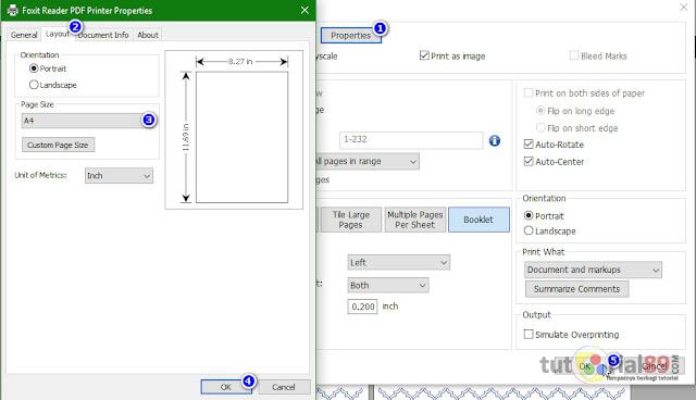 Cara mencetak ebook pdf seperti buku bacaan (booklat) + video