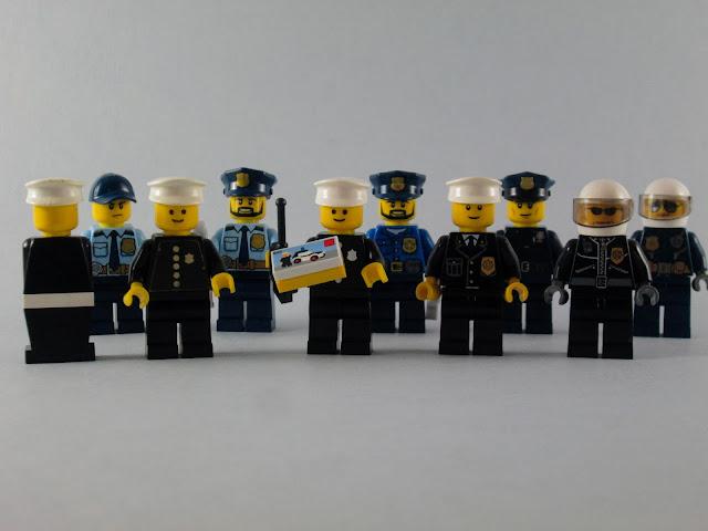 Evolução dos minifigs LEGO Polícias nos últimos 40 anos