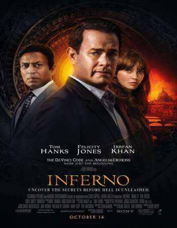 Poster Of Inferno 2016 Dual Audio 720p BluRay [Hindi - English] ESubs Free Download Watch Online downloadhub.in