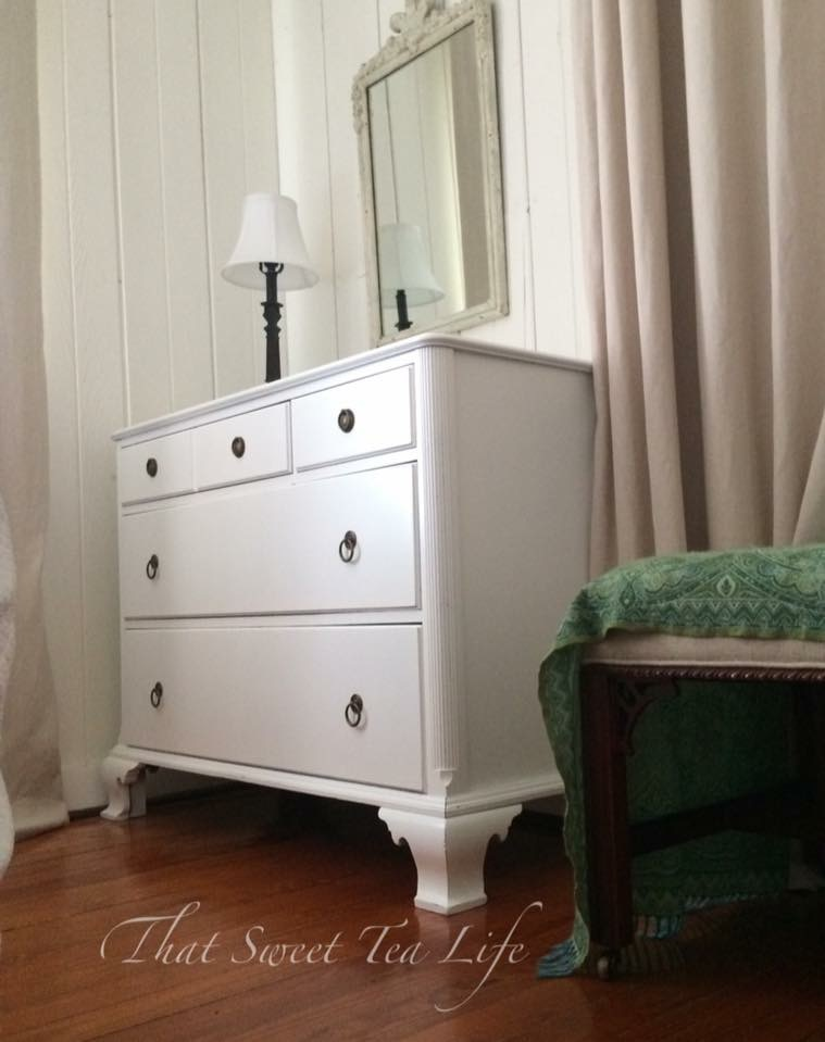 White Painted Mahogany Dresser
