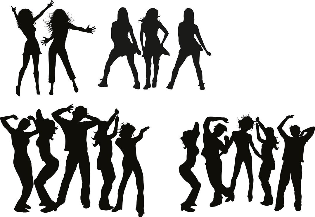 Ücretsiz Dans Eden İnsanlar Vector