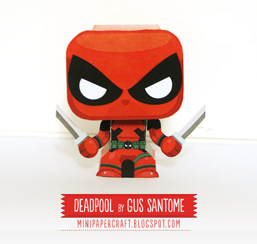 Mini Deadpool Paper Toy