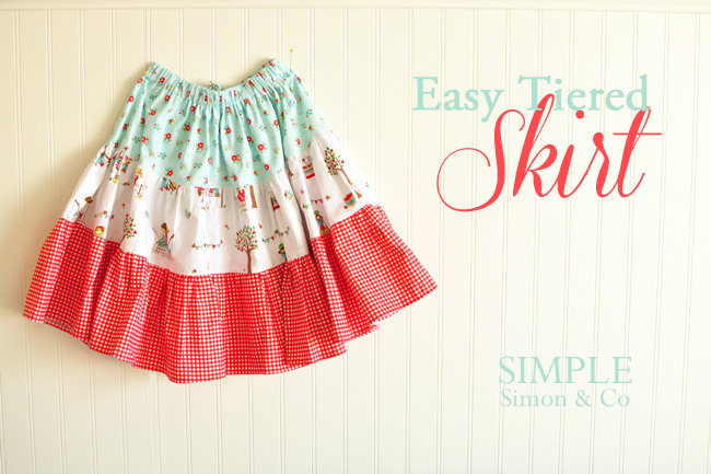 Easy Tiered Skirt Tutorial - Simple Simon and Company