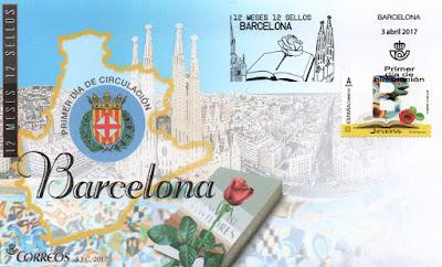 Sobre primer día con sello de Barcelona