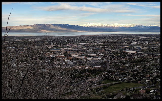 Views of BYU from the Y Trail Provo, Utah