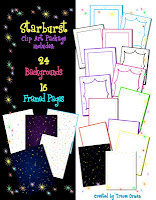 Starburst Backgrounds & Frames Graphics