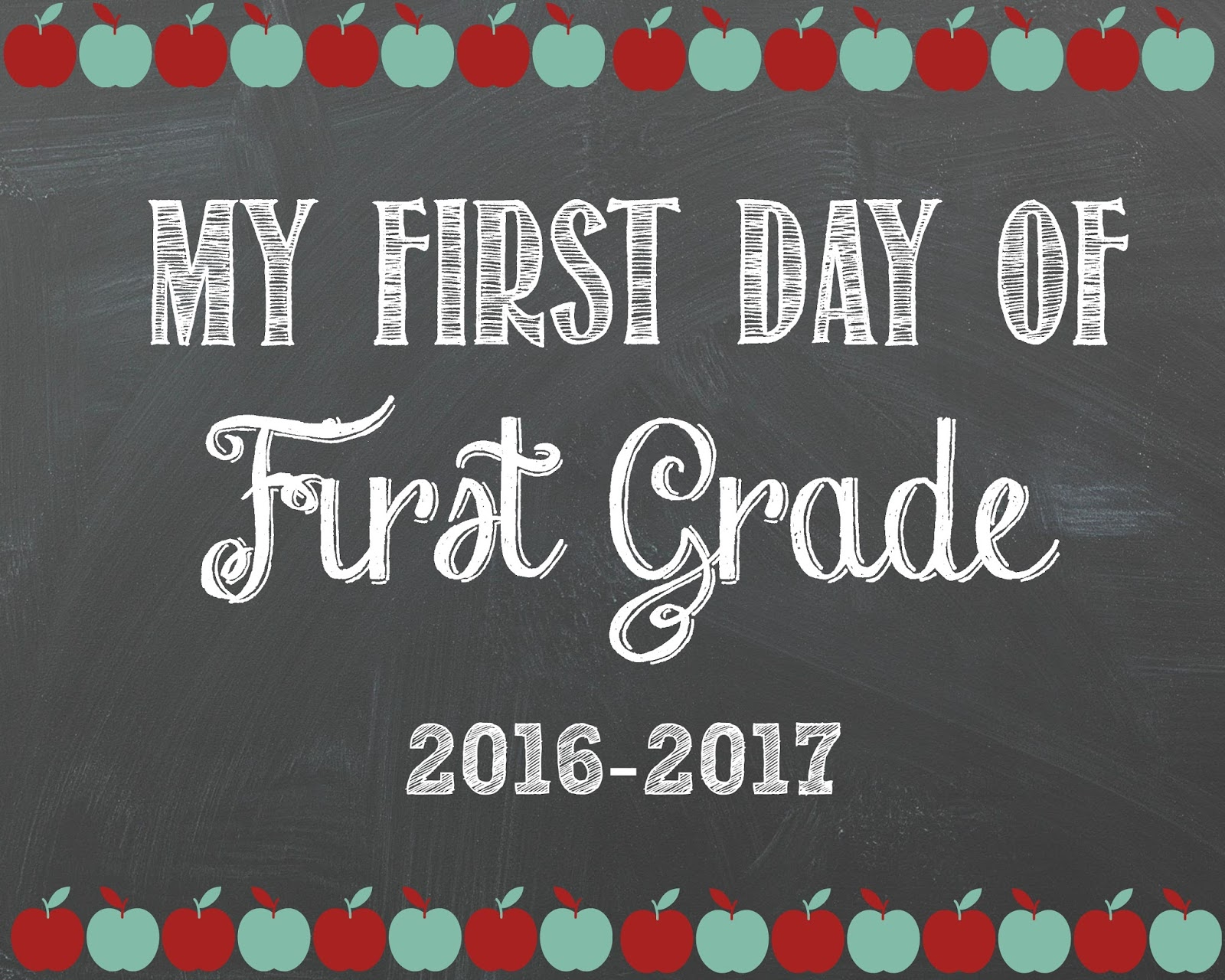 photo relating to First Day of 1st Grade Printable known as 1st Working day Of Higher education Printables 1st Quality - 1000 shots pertaining to