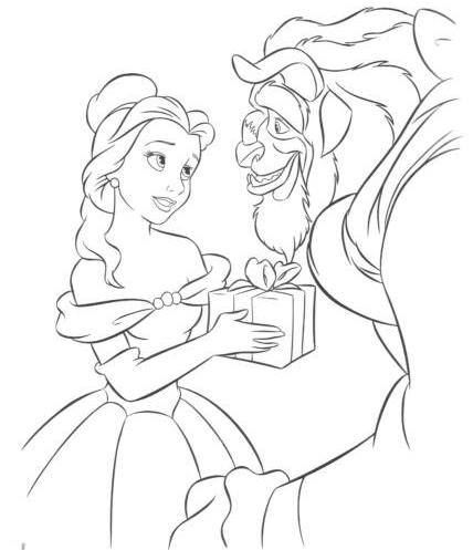 belle disney princess coloring pages | Disney Princess Belle Coloring Pages To Kids