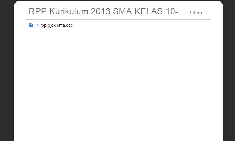New Revisi Rpp Kurikulum 2013 SMA Kelas 10-11-12 Pjok SMA LengkapTerbaru