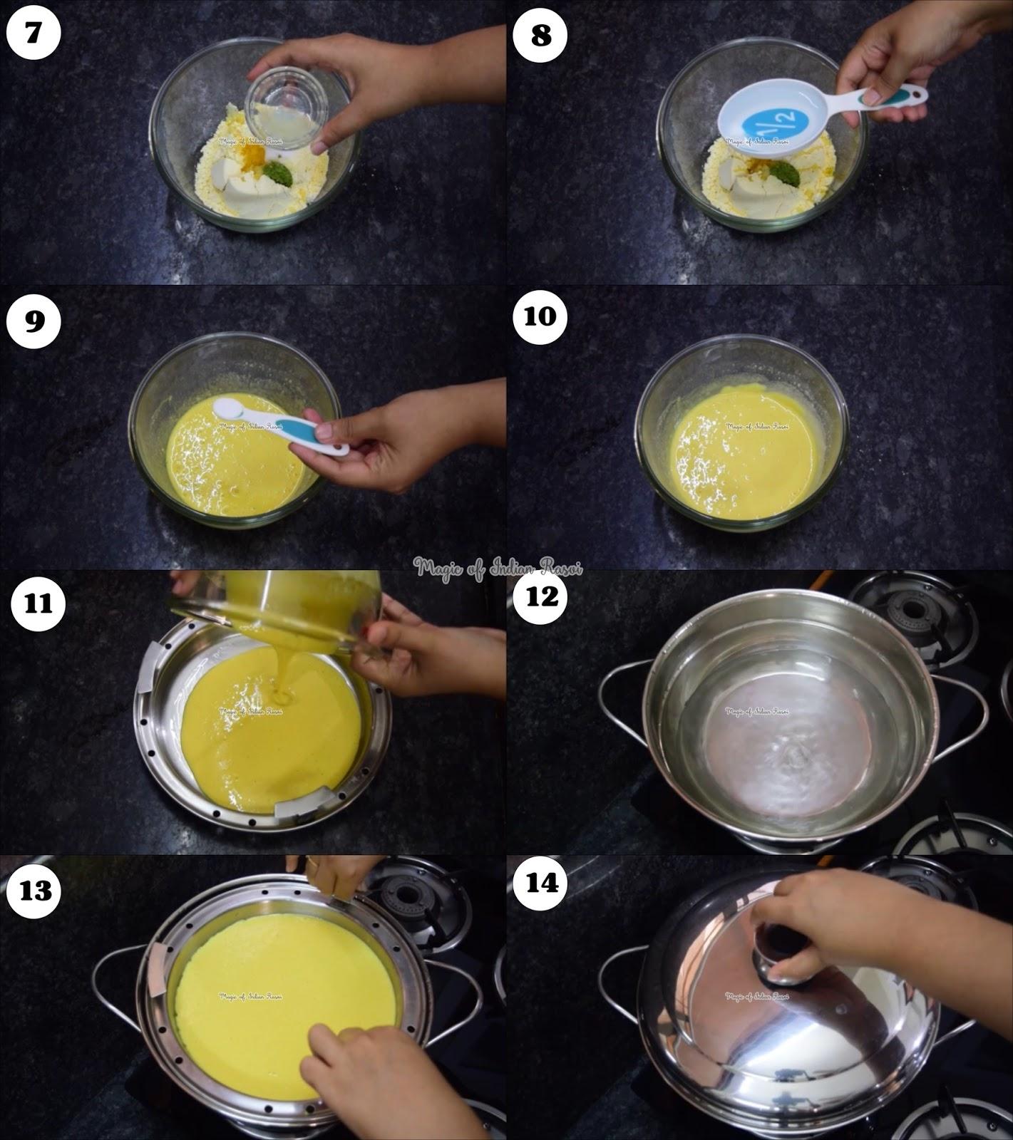 Surti Sev Khamani - Instant Khamani with Besan Recipe - सुरती सेव खमनी रेसिपी - Priya R - Magic of Indian Rasoi