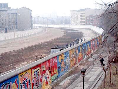 muro di berlino visto dall'alto