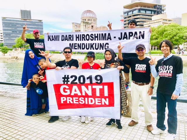 Deklarasi #2019GantiPresiden di Hiroshima Jepang