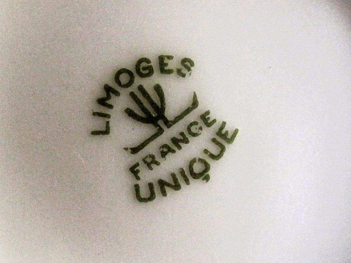Art deco limoges porcelain the limoges unique mark - Porcelaine de limoges ...
