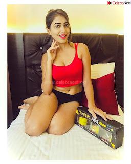 Ruma Sharma in Red Crop top 4 .xyz Exclusive Pics