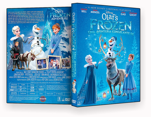 CAPA -Olaf Em Uma Nova Aventura Congelante De Frozen DVD-R