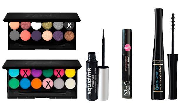Productos utilizados. Maquillaje para diario en tono rosa.