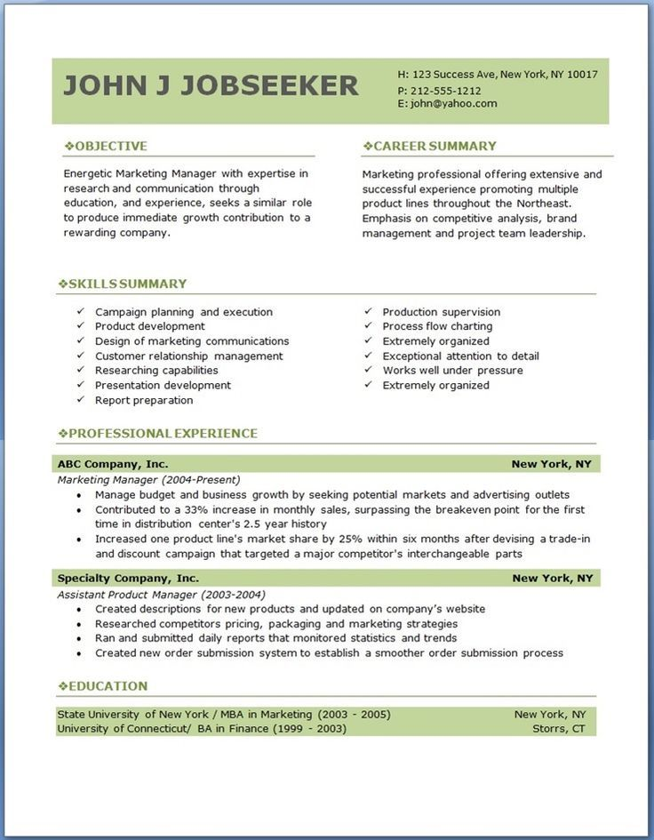 write your own resume