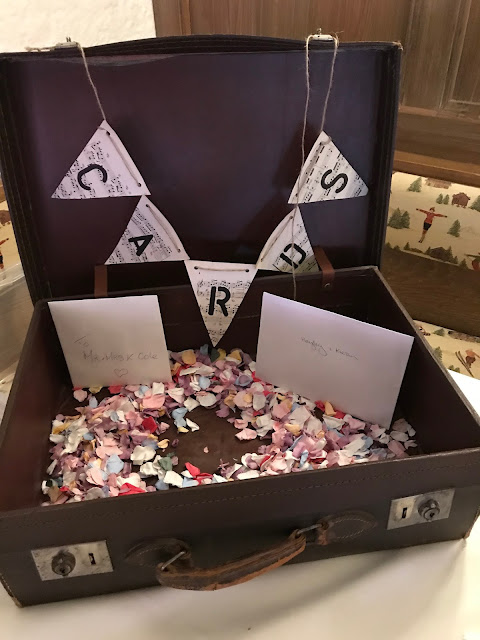 card suitcase gift table, Wedding abroad, Mountain wedding lake-side at the Riessersee Hotel Resort Bavaria, Germany, Garmisch-Partenkirchen
