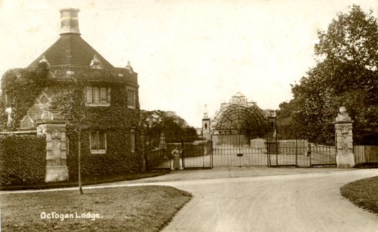 Photograph of the Octagon Lodge, North Mymms Park