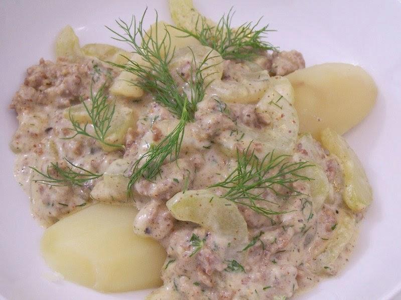 sauerkrautsuppe mit gehacktes