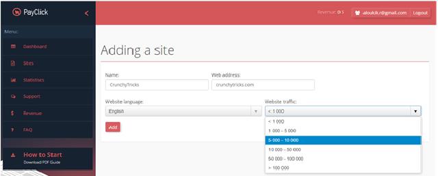 Adding a Site