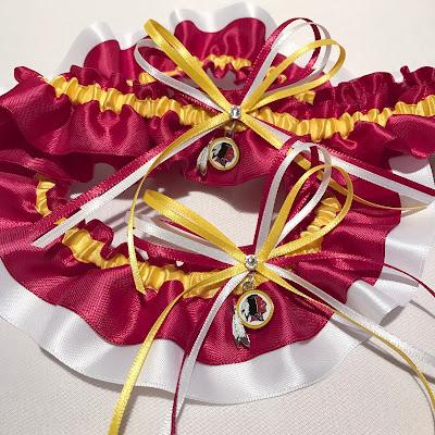 Washington Redskins Wedding Garter Set by Sugarplum Garters