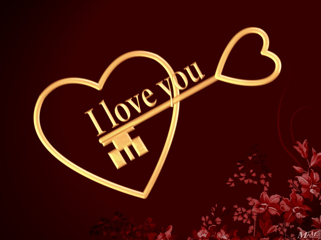 Free 3D Wallpapers Download: I love you wallpaper, i love you wallpapers