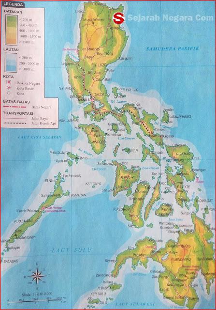 Gambar Peta Negara Filipina 2018