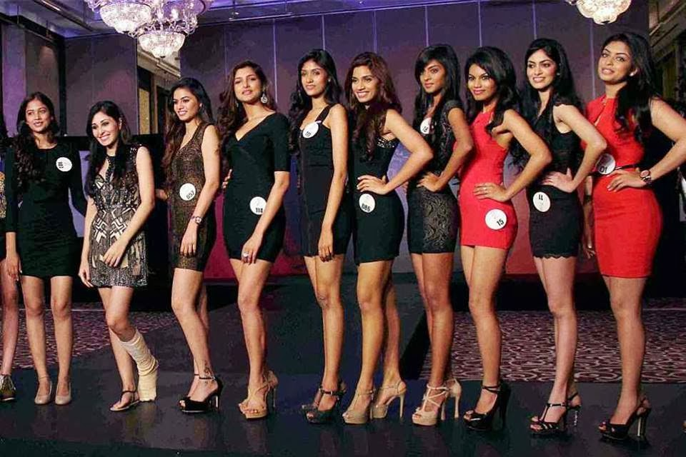 Photo: Femina Miss India 2014 Final Contestants During the Final Round