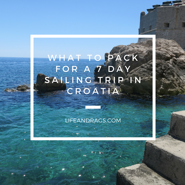 What to pack for a 7 day sailing trip in Croatia
