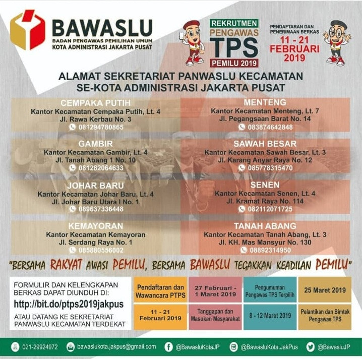 Terminalhrd Lowongan Kerja Bawaslu Jakarta Pusat 2019