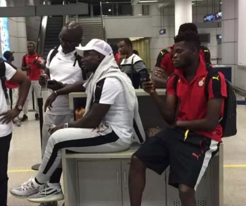 The team was left stranded at airport for three hours