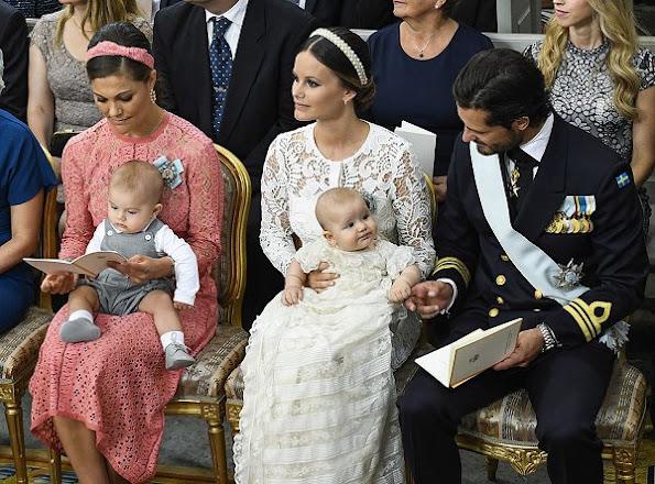 Baptism of Prince Alexander of Sweden, Princess Madeleine, Princess Victoria, Princess Estelle, Princess sofia, Princess Leonore