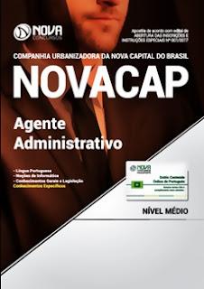 Apostila Concurso NOVACAP 2018 Agente Administrativo