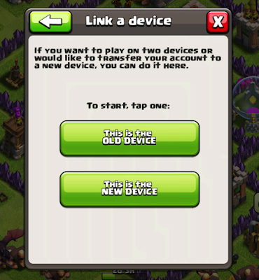 transfer clash of clans account from ios to android