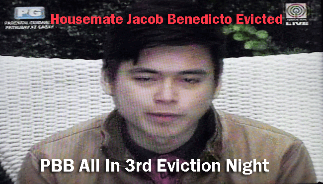 Housemate Jacob Benedicto Evicted in PBB All In 3nd Eviction Night