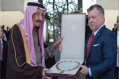 Raja Salman Terima Penghargaan Tertinggi dari Yordania