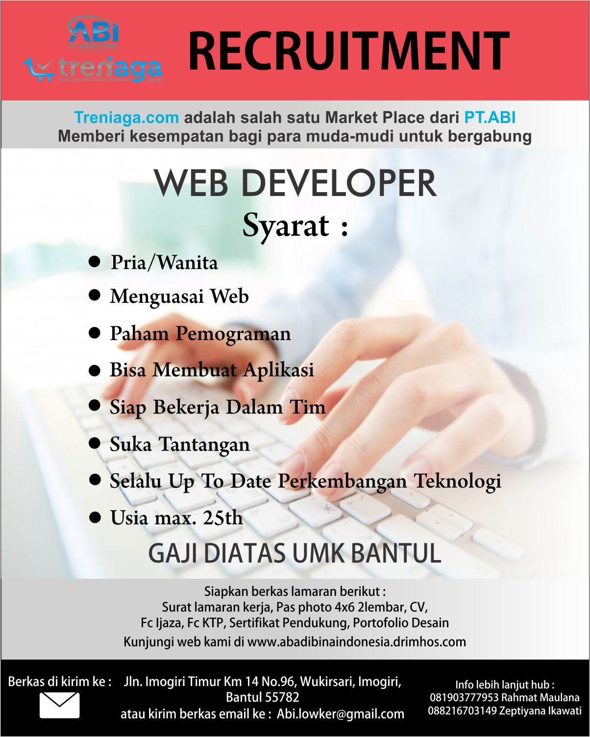 Web Developer Lowongan