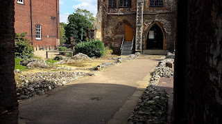 Ruins of Blackfriar's Monastery in Norwich University of the Arts courtyard